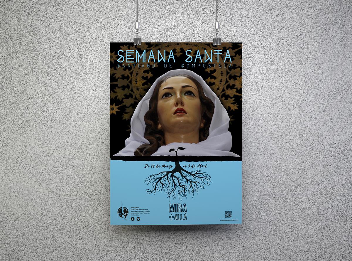 Semana Santa Compostela Cartel