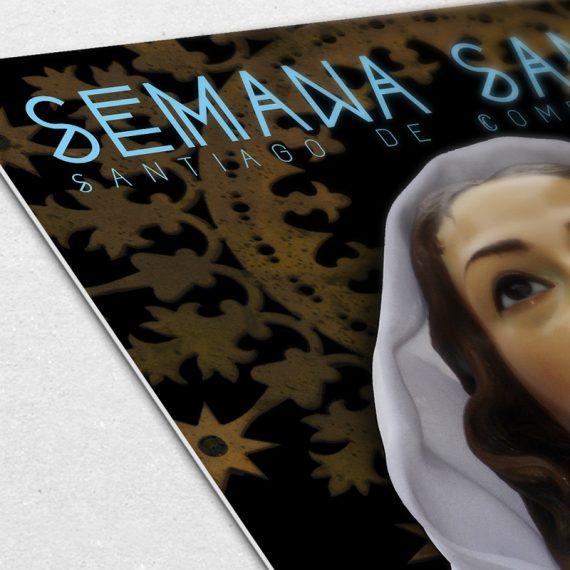 Semana Santa Compostela Cartel detalle